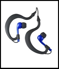 Uwater Triple Axis Action Earphones-Black/Blue